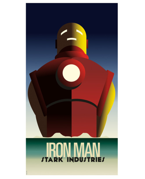 oliphillips:  Cassandre Spirit Iron Man Print by Greg Guillemin Available here