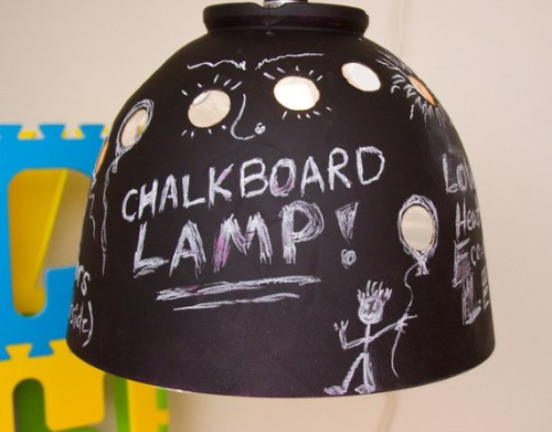 Chalkboard LED Lamp on Etsy