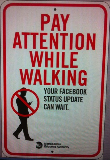 justinstoned:  Pay Attention While Walking