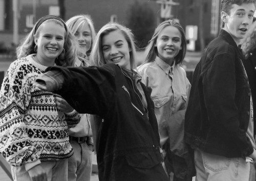 Teens at the Fringe, Edmonton, Alberta, 1992.