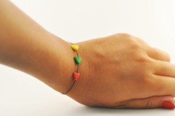 I made this bracelet for the eurobasket. It's a flag colors of Lithuania. I love my country and I love basketball. ;> <3