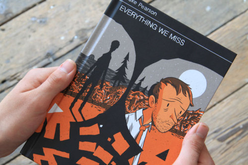 drawnblog:  Luke Pearson's Everything We Miss from Nobrow is a remarkably mature follow-up to his all-ages debut, Hildafolk. The story, printed in orange, black, and a beautiful warm grey, chronicles a dying relationship and the strange supernatural happenings going on all around us that go unnoticed. And speaking of Luke Pearson and the supernatural, if you haven't already, you simply must play The End, a philosophical platformer video game that asks young people big questions about death and mortality — all of it illustrated by Luke. It's like taking control of a character from one of his comics and getting to explore his or her world.