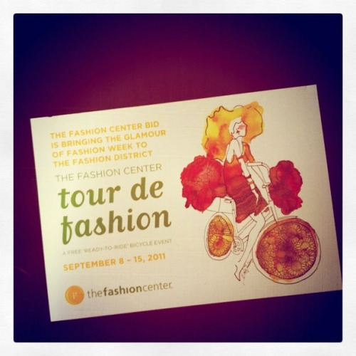 Tour de Fashion by the Fashion Center September 8th - 15th