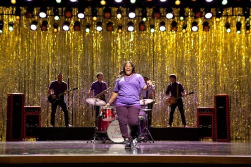 "gleeks:  Promotional picture from Glee's first episode of Season 3 ""The Purple Piano Project."""