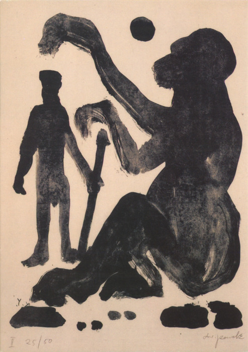 freakyfauna:  Encounter, A.R. Penck.