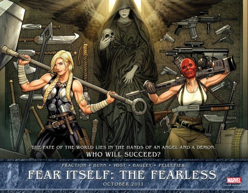 jovenistheworst:  durdygoesto11:  fuckyeahcaptainamerica:  Fear Itself: The Fearless #1 teaser Sin isn't the vessel of Skadi in this teaser. Does that have any bearing on anything?  Also, why are her boobs so big?  Cuz Frank Cho don't mess around with no B or C cups.