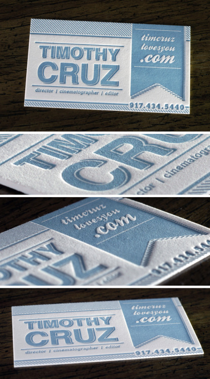 designersof:  Letterpress Business Cards on  236lb 100% cotton paper Click here for more from Print&Grain  But I want these