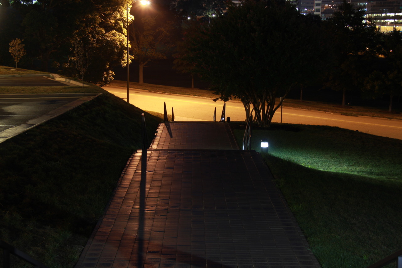 Steps at night.