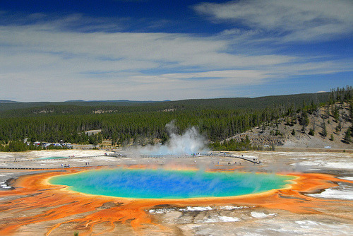 Yellowstone,Grand Prismatic Spring by Dave Schreier Appreciate the beauty of nature before we destroy it all.