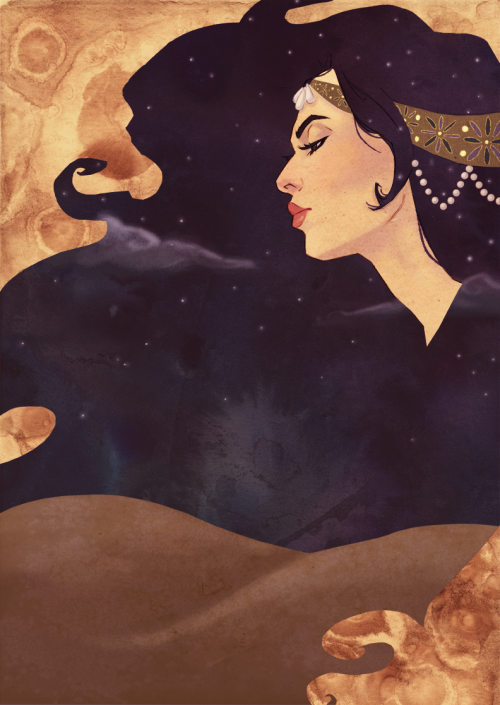 lizpulido:  1001 Arabian Nights illustration for BYU's 2011-12 Theater Season.