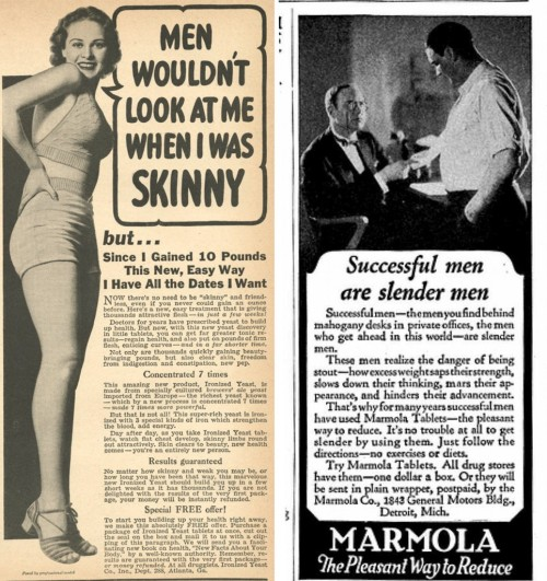 yeahrightthere:  Retro body ads.