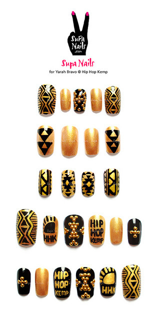 supanails:  Supa Nails for Yarah Bravo @ Hip Hop Kemp  *DEAD*