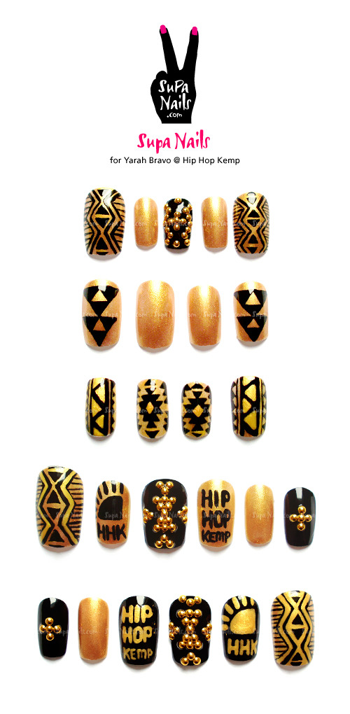 Supa Nails for Yarah Bravo @ Hip Hop Kemp