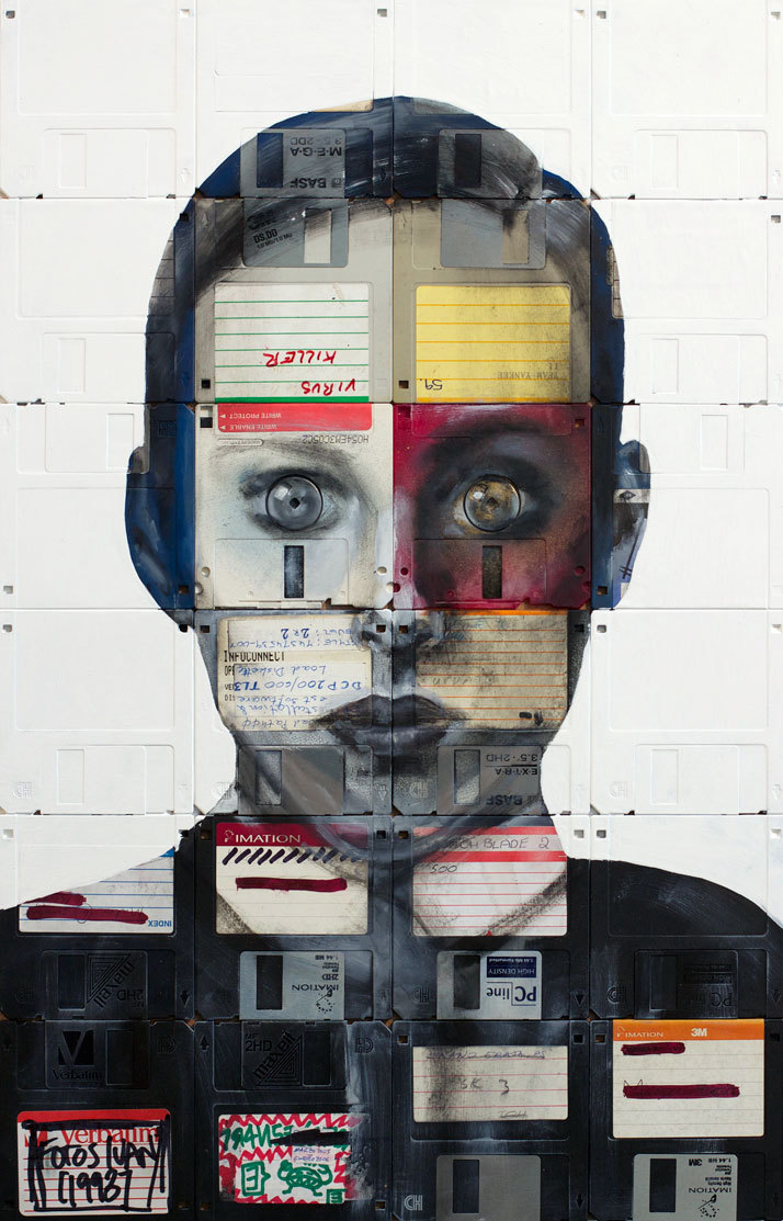 Floppy Portraits by Nick Gentry.