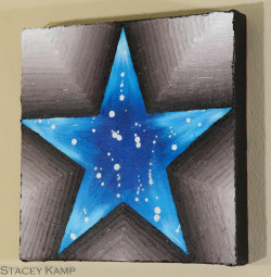 "Star Series #2 Blue Steele 12x12x1.5"" $145"