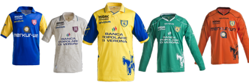 Michael Bradley joins Chievo Verona in Italy's Serie A. This is their kit, what do you think?