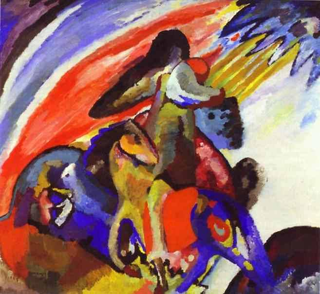 Improvisation 12 (Rider) 1910 Oil on canvas