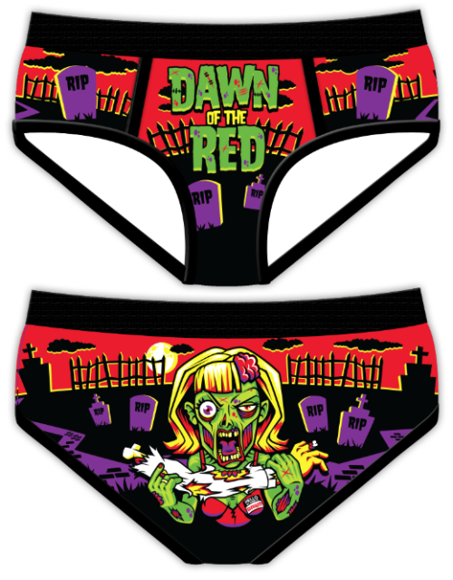 "Finally settled on a color combo for ""Dawn of the Red"" Period Panties!"
