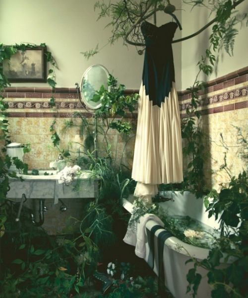 rufflesnotdiets:  fairytalemood:  photo by Rus Anson  Poison Ivy's bathroom