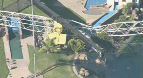 "shortformblog:  Amusement park ride collapses near Sacramento: At the Scandia Fun Center amusement park near Citrus Heights, Calif., a ride called the ""Scandia Screamer"" collapsed. At least one has been reported injured. To give you an idea of what this fairly popular ride is usually like, check this YouTube video out. (src ProducerMatthew)  Oh god."