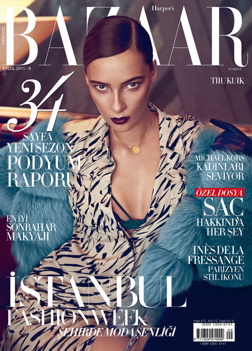 Tiiu Kuik in Harper's Bazaar Turkey - September 2011