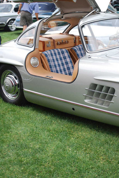 I usually hate gull-wing doors with a passion, but if anybody is going to do it right, it's Mercedes.