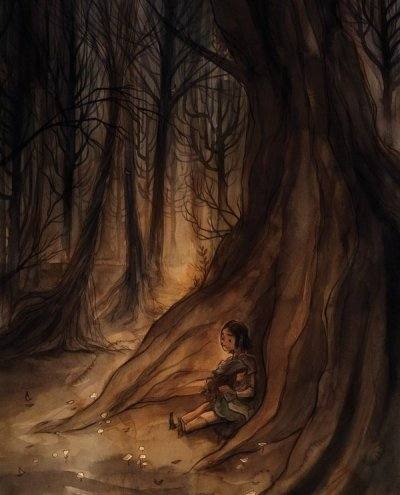 "fairytalemood:  ""Hansel and Gretel"" by Cory Godbey"