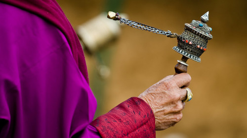 d0ntbejanky:  Bhutan - Prayer Wheel - Gangtey by sgloskoter on Flickr