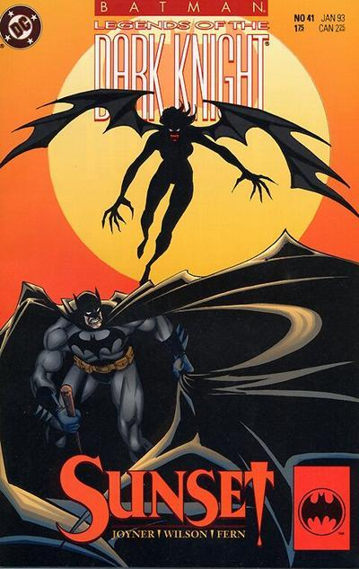 "Batman: Legends of the Dark Knight #41, ""Sunset,"" January 1993, written by Tom Joyner, penciled by Jim Fern Batman gets seduced by an old Hollywood starlet turned vampire and stars in her fancy homemade blockbusters until Alfred saves him. Yep. What the 27 year old thinks: Yeah…I don't think Batman: Legends of the Dark Knight is necessary reading. I mean, it's whole selling point (from what I understand) is that it gives creators an outlet for out of continuity Batman stories. Every now and then that yields something truly interesting, like the Bryan Talbot two-parter from the previous two months. The rest of the time…there's old timey vampire ladies. Not awful if you are down with that. But… What the 8 year old thinks: I think that after getting exposed to the soap opera and continuing continuity of the other titles, he's probably bummed that this Batman comic doesn't have that. I know that 8 year old me could definitely tell the difference between the real deal Uncanny X-Men and the for-kids X-Men Adventures. He knew what really mattered and what was just cartoon adaptations, and as soon as he discovered the actual world of the X-Men, the luster of X-Men Adventures wore off like whoah. So while this is fine, I have a feeling that the recently-dropped Batman will be making a return soon. Verdict: ""All of the clothes in this comic book are really weird."""