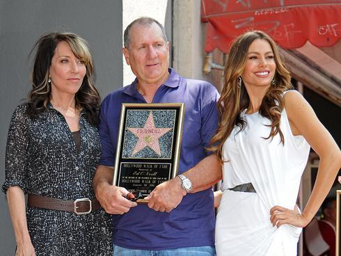 thedailywhat:  Well-Deserved Recognition of the Day: Ed O'Neill was joined by TV wives Katey Sagal (Married… with Children) and Sofia Vergara (Modern Family) on the Hollywood Walk of Fame, where the 65-year-old actor was finally honored with his very own star.   Oooh hot damn Katey you still look fine as hell.  When I was 5 years old I wanted to look just like Peggy Bundy…. I think it might be why I've been pretending to be a redhead for more than a decade…