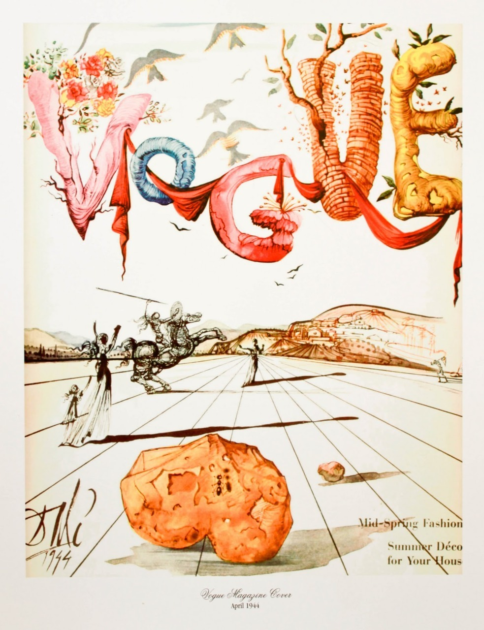 jenbee:  Salvador Dalí  did covers for @voguemagazine?! Thanks to @brainpicker for setting me on a path down a very interesting rabbit hole.  Surrealism on display.
