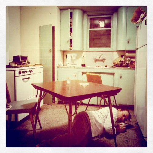 Jeff Wall - Insomnia, 1994 Modified using instagram. View original version here.
