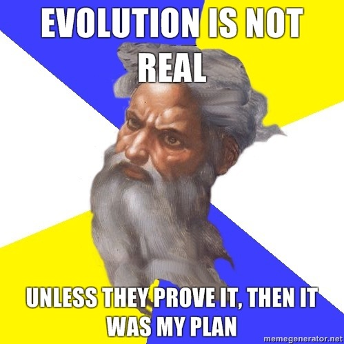 ih8religion:  Evolution takes such a beating. lol I H8 RELIGION- Tyler