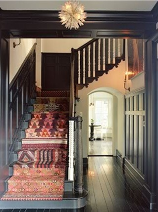 My Bohemian Home ~ Stairways, Hallways, and Entryways Seriously? I need this staircase.