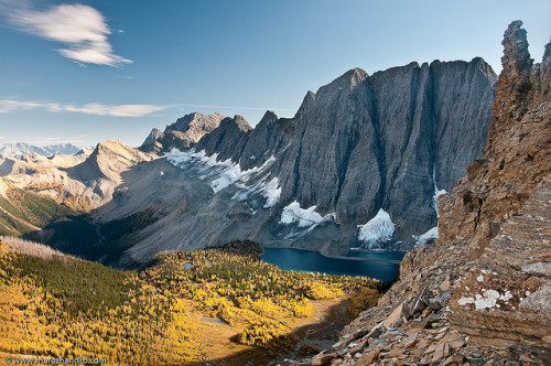 fangornforest-:  Floe Lake From Foster Peak Slopes by Marc Shandro on Flickr.