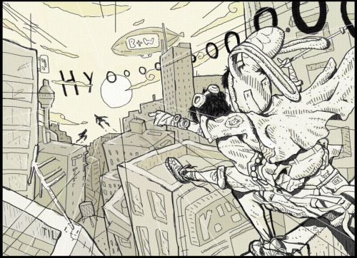 Taylor Crisdale's Tekkonkinkreet  Heyo, been a while. Read the Manga Black and White or watch the movie seriously, it's good.