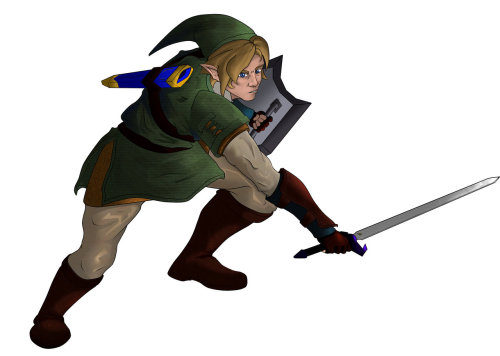 A picture of Link I made a few months ago.