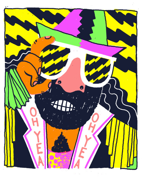 Macho Man. 5 color silkscreen. ed 14. June 2010 Printed last year before Macho Man's untimely death.  RIP Slim Jim.  My computer crashed before this could make it on the internet.  It's taken me over a year, but it's here.