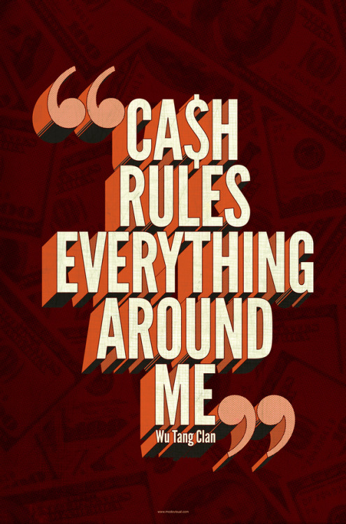 inspiredmark:  Typography: Ca$h rules