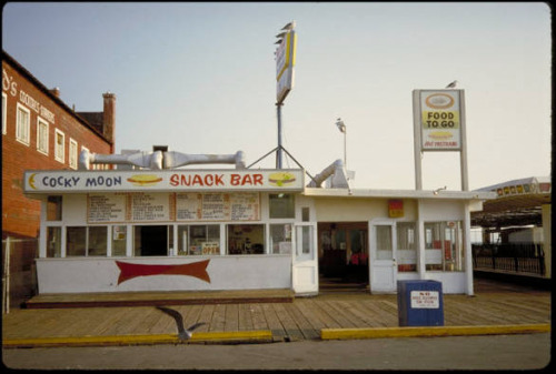 Cocky Moon. Cocky Moon snack bar, Santa Monica pier, 1985.