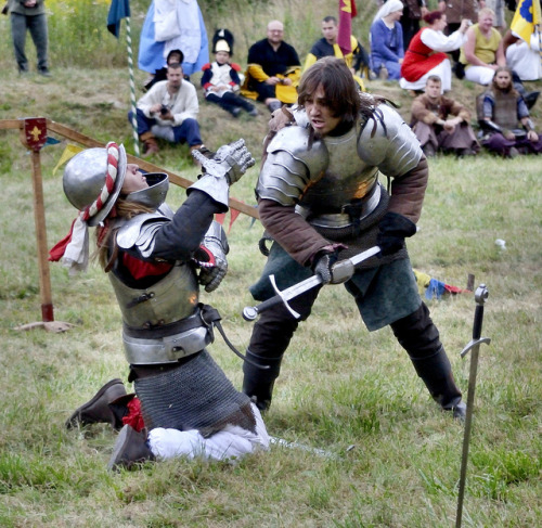 dailyreenactor:  Knight fight by The Adventurous Eye on Flickr.