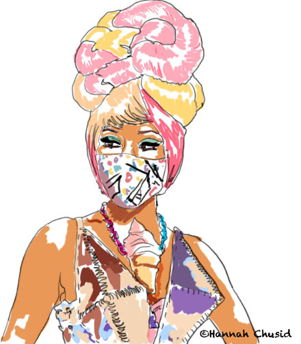 In honor of Nicki Minaj's win (and outrageous outfit) at the VMAs.  **THIS CAN BE PRINTED BY REQUEST—SEE MY BLOG FOR DETAILS**