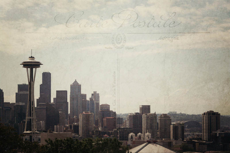 Seattle Postcard by Dena Brender here