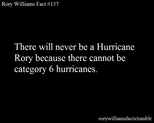 There will never be a Hurricane Rory because there cannot be category 6 hurricanes.