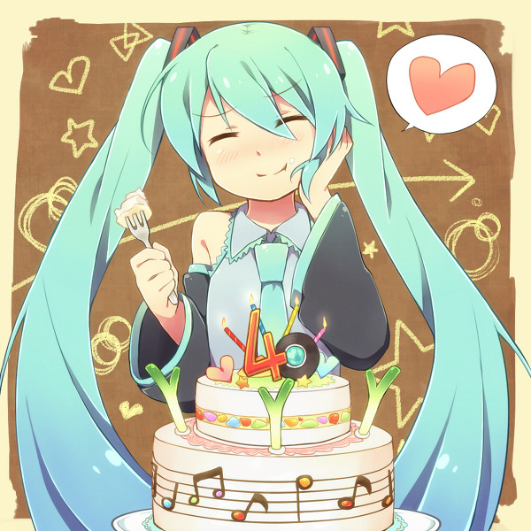 vocaloidmiku:  Happy Birthday, Miku - August 31, 2011! — Happy Birthday, Miku-san! 「ミクさんお誕生日おめでとう!」/「レキ」のイラスト [pixiv]