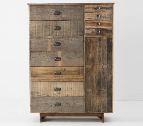 Wonderful looking chest merges modern and rustic.