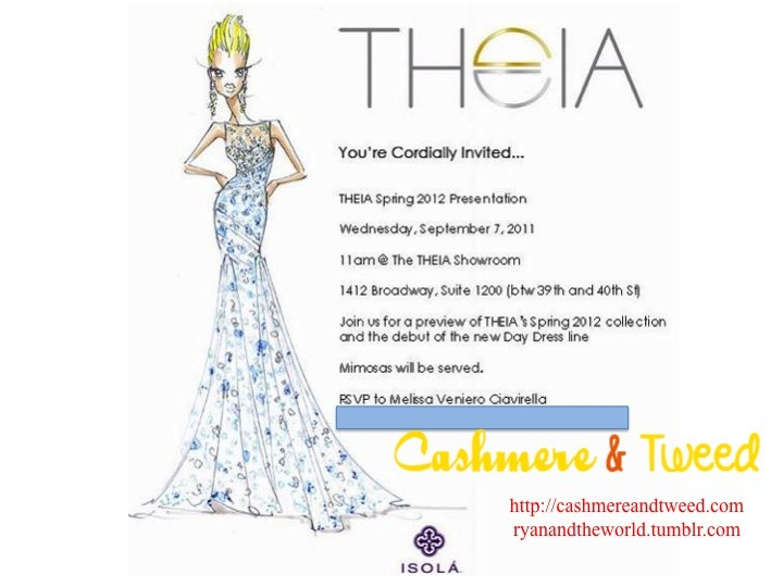 Theia Couture #MBFW Invitation