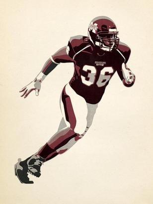 Mississippi State professor Jude Landry's illustration of Nick Bell RIP