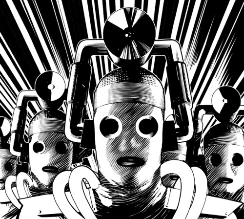 frazerirving:  […] This is my Cybermen art for some tin that was to contain biscuits or CDs or something. […]