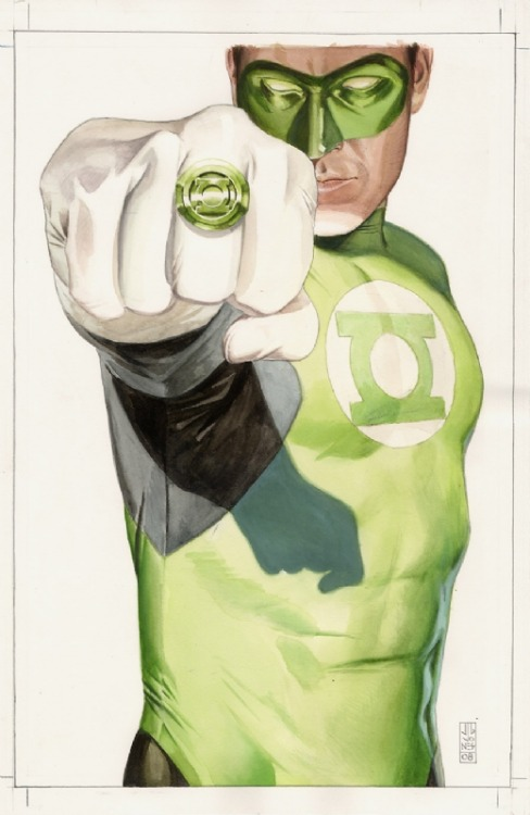contextisfortheweak:  J.G. Jones - Final Crisis #1 Green Lantern cover art
